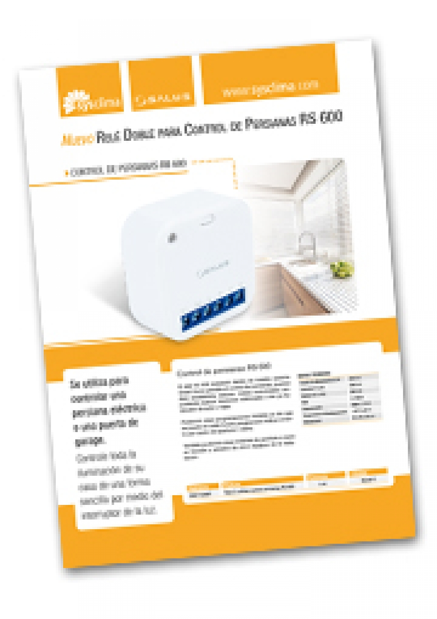 Documento Comercial Control de persianas RS 600